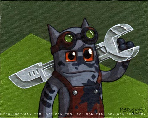 cat with a wrench