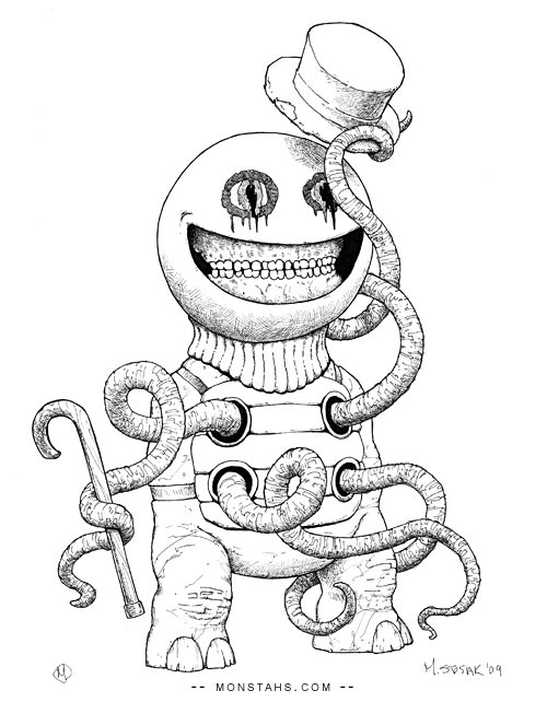 Monster with a hat